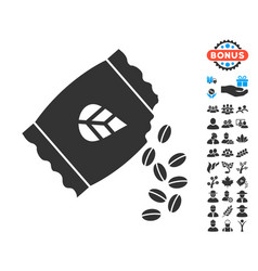 Sow seed pack icon with free bonus vector