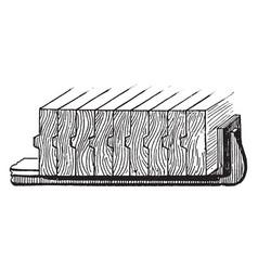 Steel clamp vintage vector