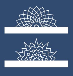 Template for laser cutting with mandala can be vector