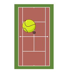 Tennis field and ball game of tennis game ball vector