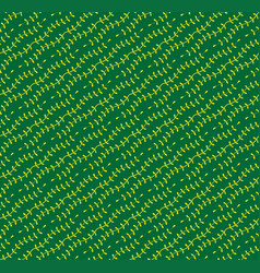 yellow green vine pattern seamless background vector image vector image