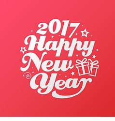 Happy new year white lettering circle modern vector