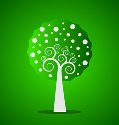 Green swirl tree vector