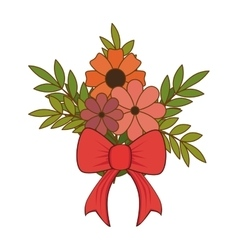 floral love card decoration vector image