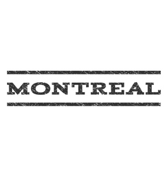 Montreal watermark stamp vector