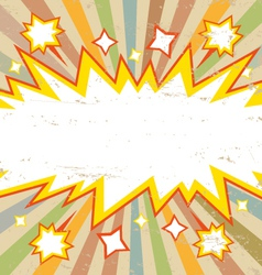 Frame boom comic book explosion vector