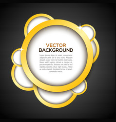 Luxury background in black vector