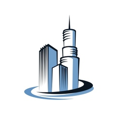 Modern city and communications tower vector