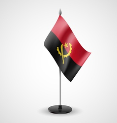 Table flag of angola vector