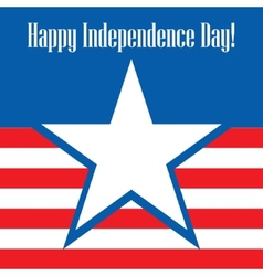 Happy independence day usa greeting card vector