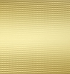 Gold metallic design background vector