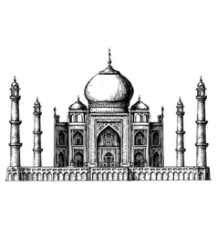 Taj mahal logo design template india or hindu vector
