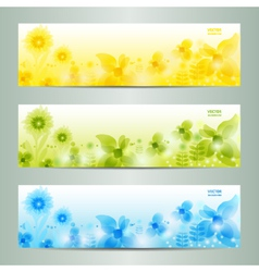 Abstract flower background brochure template vector