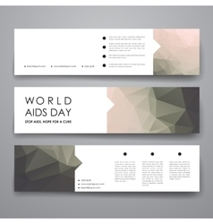 Set of modern design banner template in world aids vector