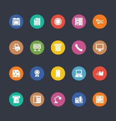 Glyphs Colored Icons 3 vector image
