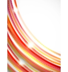 Red and orange color lines in swirl circle vector image