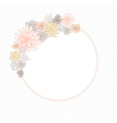 Flower round circle card template vector image