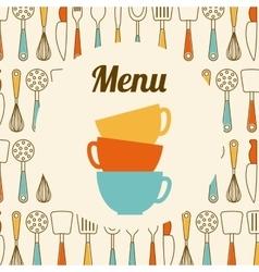kitchen tools design vector image
