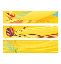 Set of hot travel banners vector