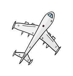 airplane hand drawn vector image