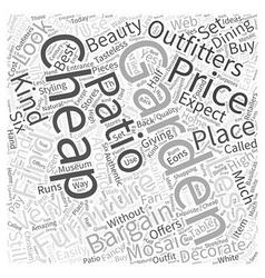 Cheap garden furniture word cloud concept vector