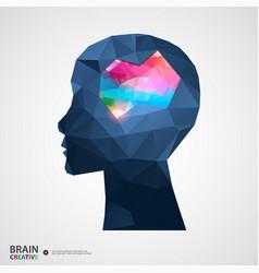 Creative concept of the human head vector