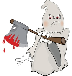 Cute cartoon ghost vector