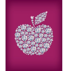 Diamond apple vector image