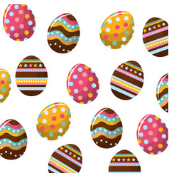 Easter eggs with nice decoration background vector