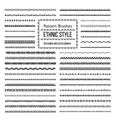 ethnic style pattern brushes set vector image vector image