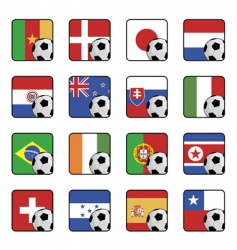 football flag icons vector image