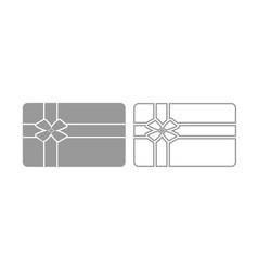 gift card icon grey set vector image vector image