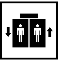 Lift or elevator icon vector image vector image
