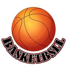 Logo design with basketball vector image