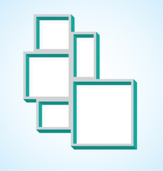 Picture frame collage vector
