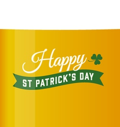 Saint patrick beer background vector