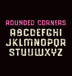 sanserif font in sport style with rounded corners vector image vector image