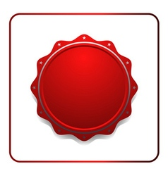 Seal award red icon vector image