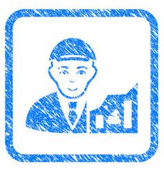 Shitcoin trader framed stamp vector