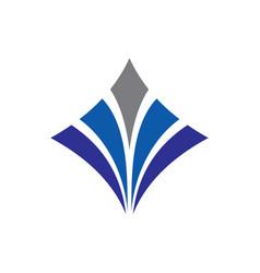 Square arrow business finance logo vector