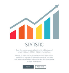 Statistic and growing diagram vector