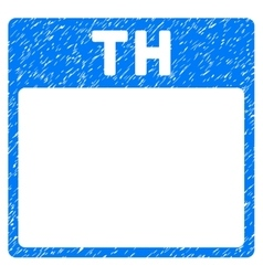Thursday calendar page grainy texture icon vector