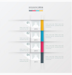 timeline report design template yellow blue pink vector image