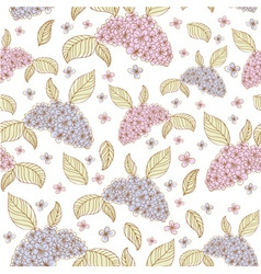 Spring lilac flowers seamless vector