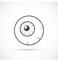 Halloween eyeball icon vector