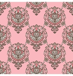 Seamless damask vintage pattern design vector