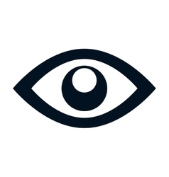 Eye symbol isolated icon vector
