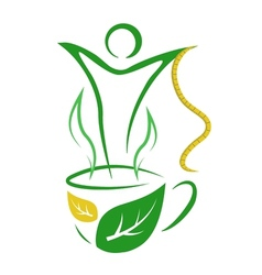 Tea for weight loss vector