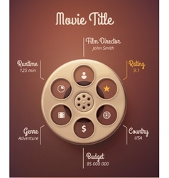 Statistics Movie vector image