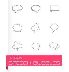 Speech bubbles icon set vector